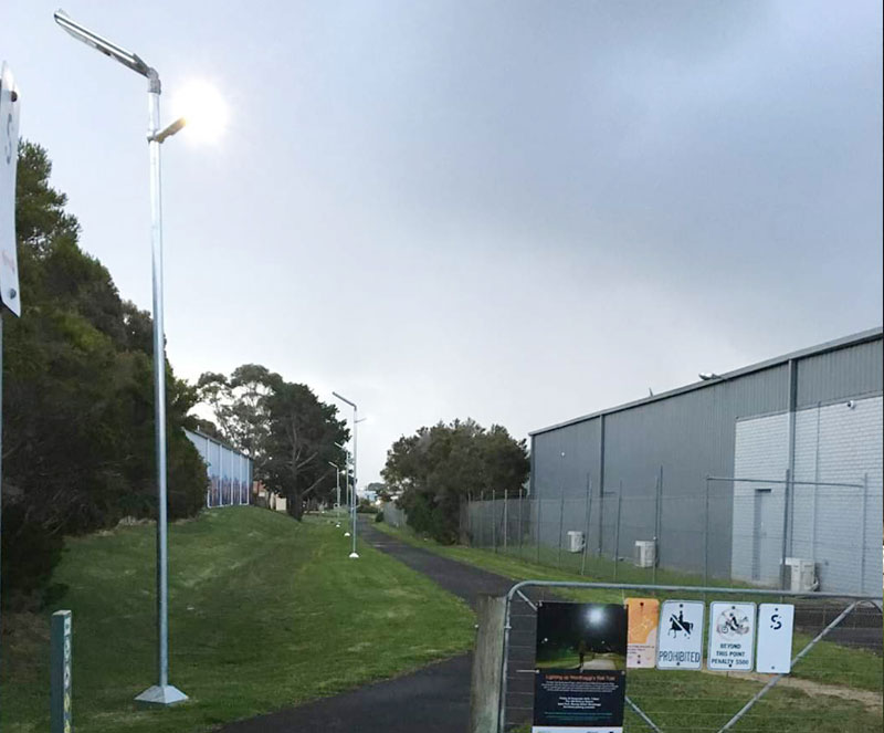 outdoor all in two solar street lights