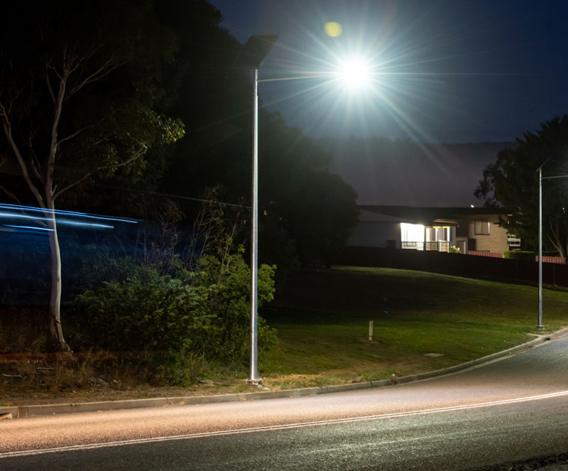 all in one off-grid street lighting